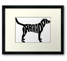 Labrador Black Framed Print