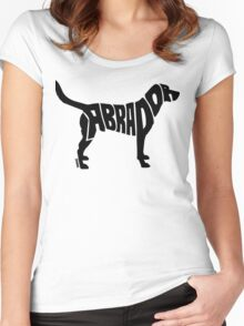 Labrador Black Women's Fitted Scoop T-Shirt