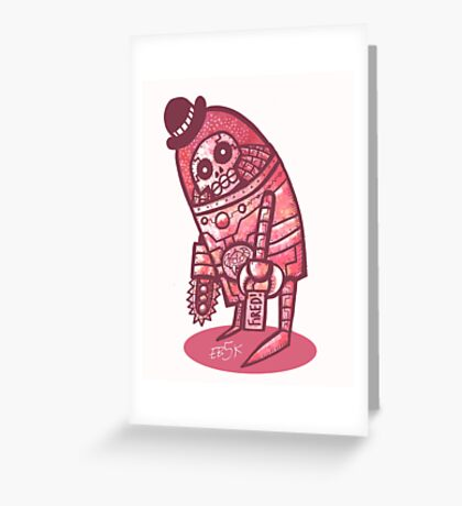 Mad Spaceman Series: Pink Slip Greeting Card