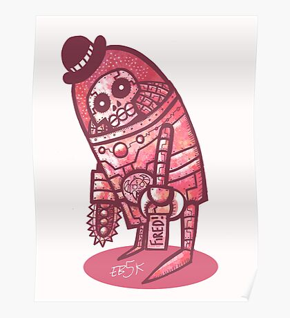 Mad Spaceman Series: Pink Slip Poster