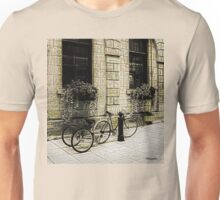 Tandem Bicycle and Flowers Unisex T-Shirt