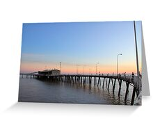 derby jetty at dusk Greeting Card
