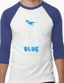 Keep Calm and Call Blue   Raptor Men's Baseball ¾ T-Shirt