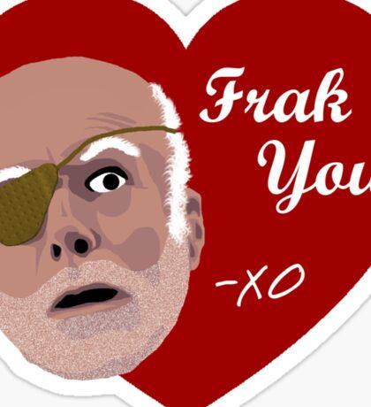 Colonel Tigh Valentine Sticker