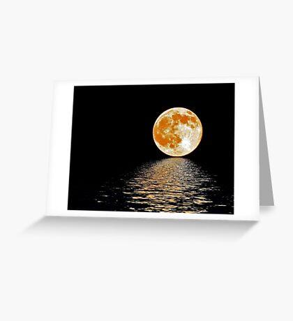 Moon~Rising Greeting Card