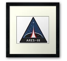 Ares III Framed Print