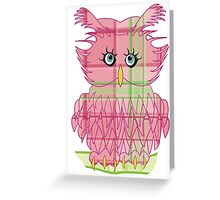 Larravide Owl Pinky Greeting Card