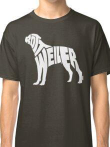 Rottweiler White Classic T-Shirt
