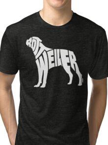 Rottweiler White Tri-blend T-Shirt
