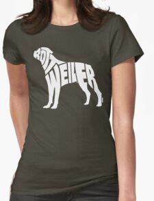 Rottweiler White Womens Fitted T-Shirt