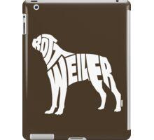 Rottweiler White iPad Case/Skin