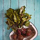 Beetroot in an enamel dish by Dave Milnes