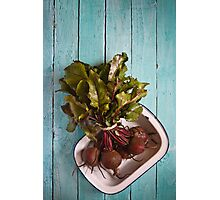 Beetroot in an enamel dish Photographic Print