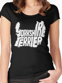 Yorkshire Terrier White Women's Fitted Scoop T-Shirt