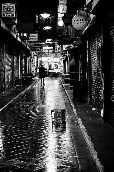 He walks at night by Georgie Hart