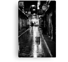 He walks at night Canvas Print