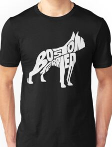 Boston Terrier White Unisex T-Shirt