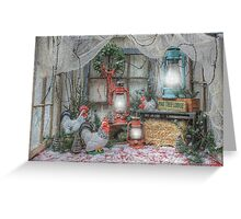 Christmas At The Pine Tree Lodge Greeting Card