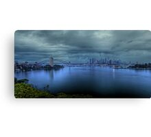 A City Under Siege Canvas Print