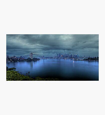 A City Under Siege Photographic Print
