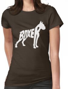 Boxer White Womens Fitted T-Shirt