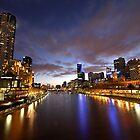 Melbourne Yarra River at twilight by Joanne Rinaldi