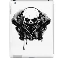 Skull with guns iPad Case/Skin