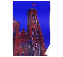Smithsonian Castle and Statue of Joseph Henry  Poster