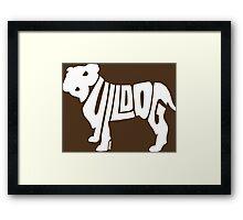 Bulldog White Framed Print