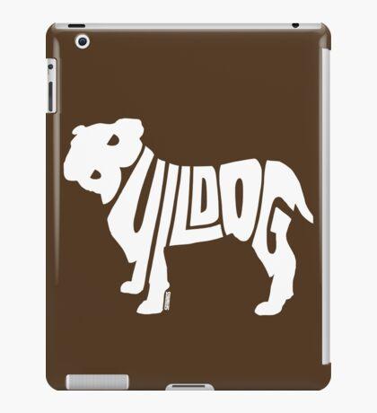 Bulldog White iPad Case/Skin