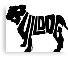 Bulldog Black Canvas Print