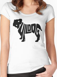 Bulldog Black Women's Fitted Scoop T-Shirt