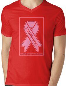 I Survived Breast Cancer -- Breast Cancer Awareness Mens V-Neck T-Shirt