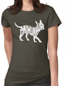 Chihuahua White Womens Fitted T-Shirt