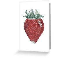 strawberry art Greeting Card