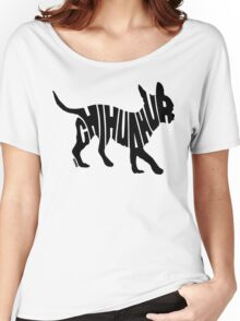 Chihuahua Black Women's Relaxed Fit T-Shirt