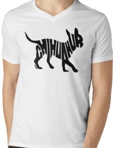 Chihuahua Black Mens V-Neck T-Shirt