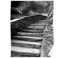 Dolbadarn Castle Steps Poster