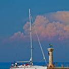 Greece. Rhodes. Entrance into the Harbor.  by vadim19