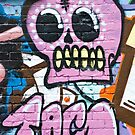 Pink Graffiti Skull by yurix