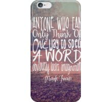 More Than One Way to Spell a Word iPhone Case/Skin