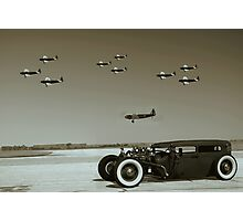 Fairchild PT-19 Trainer Fly Over Photographic Print