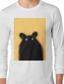 Cute furry black bear Long Sleeve T-Shirt