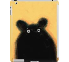 Cute furry black bear iPad Case/Skin