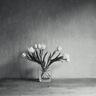 Fan of flowers, b/w by Sophie Goldsworthy