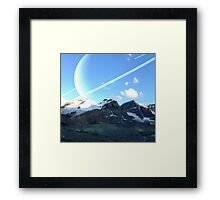 Mountain and Space Framed Print