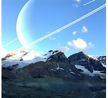 Mountain and Space Photographic Print