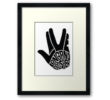 Live Long and Prosper Framed Print