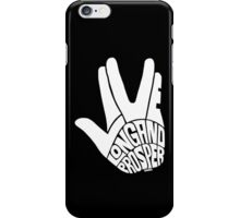 Live Long and Prosper White iPhone Case/Skin