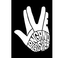 Live Long and Prosper White Photographic Print